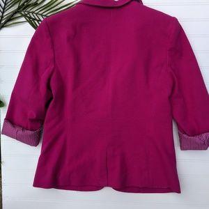 Limited Fuscia KnitnBlazee Striped Lining
